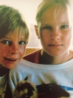 My sister and I in South Africa - 1989