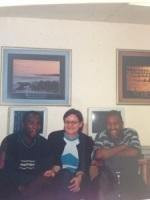 Working in Johannesburg - 2001