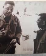Display at Robben Island - Mandela & Sisulu